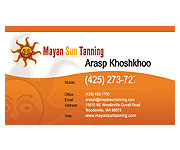 Business Cards design - Mayan Ssun Tanning