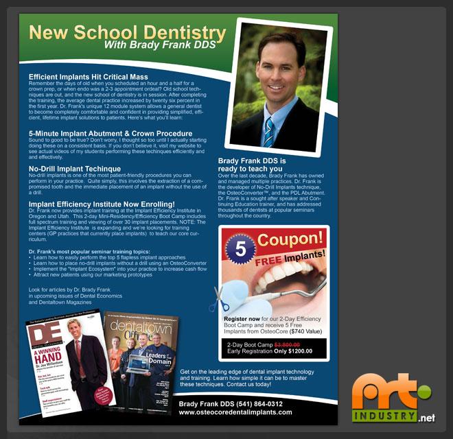 flyers design new school dentistry flyer