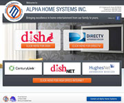 web site development - Alpha Home Systems Inc. satellite TV installation - http://alphahomesystemsinc.com/