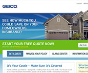 web site development - GEICO - Insureance website