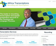 web site development -iAfrica Transcriptions - Recordings and Transcriptions - http://www.iafricatranscriptions.co.za/