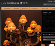 web site development - Lam Lighting & Design