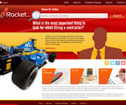 web site development - Rocket Jobs, job portal
